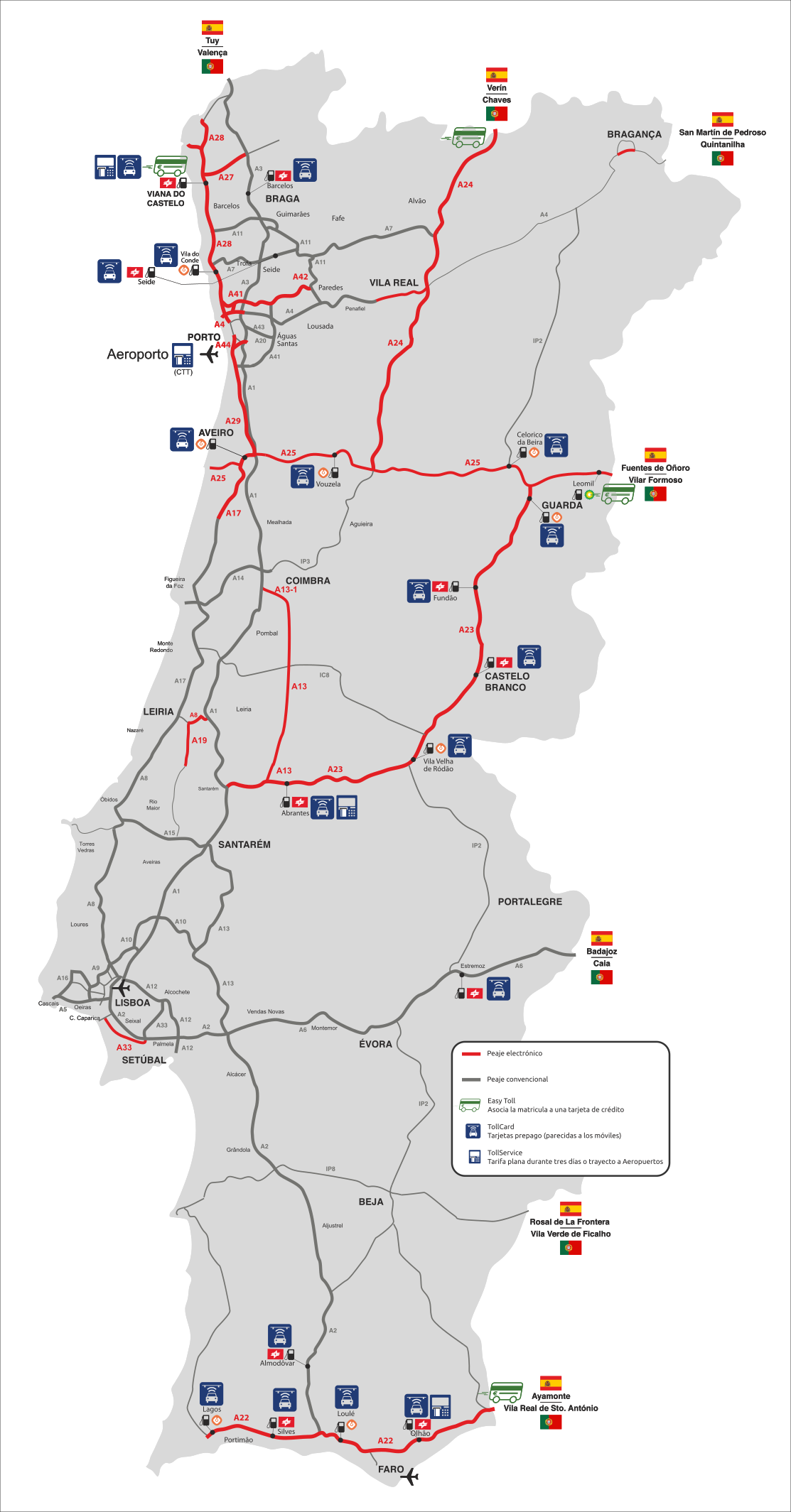 Viajar en coche a Portugal sin liarte con los peajes